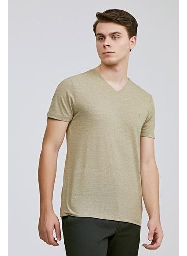 TWN Slim Fit Düz T-Shirt Haki